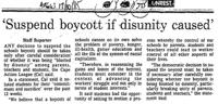 'Suspend boycott if disunity caused'