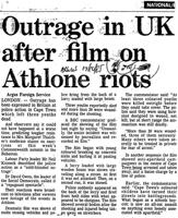 Outrage in UK after film on Athlone riots