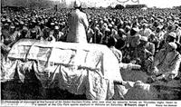 Thousands of mourners at the funeral of Mr Abdul Karriem Fridie