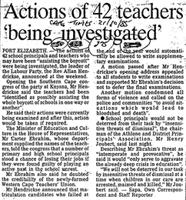 Actions of 42 teachers 'being investigated'