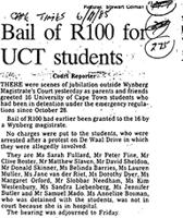 Bail of R 100 for UCT students