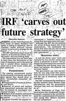 IRF 'carves out future strategy'