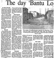 The day 'Bantu Location' saw the light