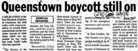 Queenstown boycott still on