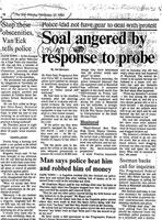 Soal angered by response to probe
