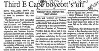Third E Cape boycott's off