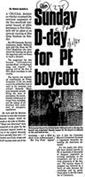 Sunday D-day for PE boycott