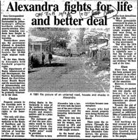 Alexandra fights for life and better deal
