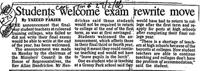 Students welcome exam rewrite move
