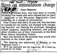 Boys on intimidation charge