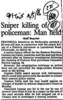 Sniper killing of policeman: Man held