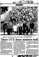 Three UCT demo students held