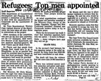 Refugees: Top men appionted