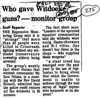 Who gave Witdoeke guns? - monitor group