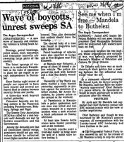 Wave of boycotts unrest sweeps SA