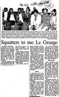 Squatters to sue Le Grange