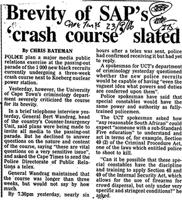 Brevity of SAP's 'crash course' slated