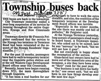 Township buses back