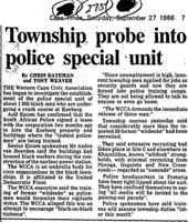 Township probe into police special unit
