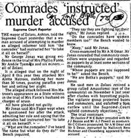 Comrades 'instructed' murder accused