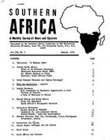 Southern Africa, Vol. 3, No. 1