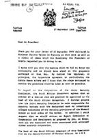 [Letter from President P. W. Botha to Joaquim Alberto Chissano, President of the Peoples Republic of Mocambique]