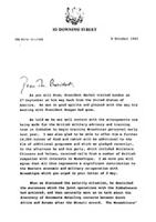 [Letter from M. Thatcher (Prime Minister of Great Britain) to Mr. President]