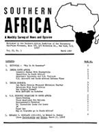 Southern Africa, Vol. 2, No. 3