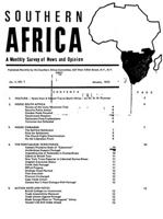 Southern Africa, Vol. 5, No. 1