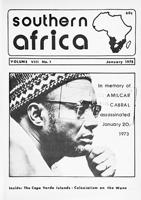 Southern Africa, Vol. 8, No. 1