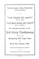 Non-European Unity Movement 3rd Unity Conference