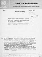 Notes and Documents - United Nations Centre Against Apartheid, No. 1/68