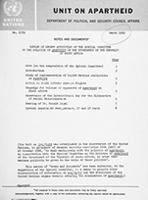 Review of Recent Activities of the Special Committee on the Policies of Apartheid of the Government of the Republic of South Africa