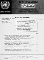 World Conference for Action Against Apartheid, Lagos, Nigeria, 22 - 26 August 1977: Action Against Apartheid by Agencies within the United Nations System: Statements at the World Conference for Action Against Apartheid