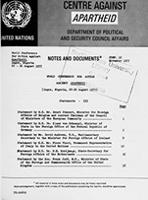 World Conference for Action Against Apartheid, Lagos, Nigeria, 22 - 26 August 1977: Statements - III