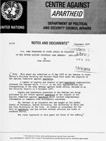 U.S. Arms Transfers to South Africa in Violation of the United Nations Voluntary Arms Embargo: 1963-1977