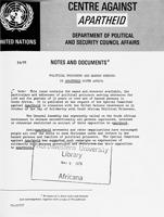 Political Prisoners and Banned Persons in Apartheid South Africa