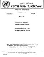 Sanctions Against South Africa: A selective bibliography, 1981-1986