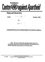 Commonwealth Communique on South Africa