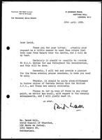 [Letter from D. Mason (Notting Hill Ecumenical Centre, London) to D. Gill (WCC, Geneva)]