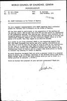 [Memorandum from B. Sjollema (World Council of Churches, Geneva) to E.C. Blake (World Council of Churches, Geneva), with attachment]