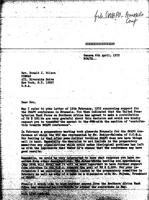 [Letter from World Council of Churches to D. Wilson (Commission on Ecumenical Mission and Relations, New York)]