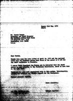 [Letter from B. Sjollema (World Council of Churches, Geneva) to J. Beeman (The Southern Africa Task Force, Washington, D.C.)]