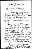 [Draft of letter from P. Potter (World Council of Churches, Geneva) to Mrs. Shipanga]