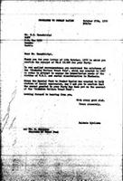 [Letter from B. Sjollema (World Council of Churches, Geneva) to M. Hamadziripi (Zimbabwe African National Union), October 27, 1970]