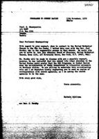 [Letter from B. Sjollema (World Council of Churches, Geneva) to N. Shamuyarira (Zimbabwe African National Union), November 13, 1970]