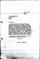 [Letter from C. Spivey (World Council of Churches, Geneva) to N. Shamuyarira (Zimbabwe African National Union), May 21, 1971]