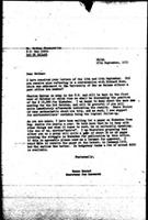 [Letter from N. Dawood (World Council of Churches, Geneva) to N. Shamuyarira (Zimbabwe African National Union), September 27, 1971]