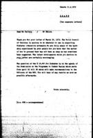 [Draft of letter from World Council of Churches to H. Chitepo (Zimbabwe African National Union), November 4, 1972]
