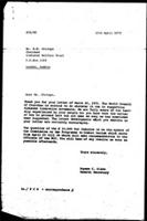 [Letter from E. Blake (World Council of Churches, Geneva) to H. Chitepo (Zimbabwe African National Union), April 12, 1972]